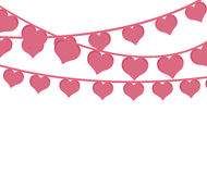 Pink hearts love garlands festive romantic Royalty Free Stock Photo