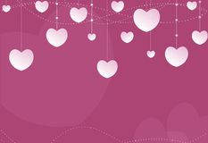 Pink Hearts Lovely Background Stock Photography