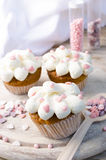 Pink Hearts Muffins Royalty Free Stock Photos