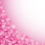 Pink hearts pattern 1 Stock Images