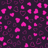 Pink hearts pattern Stock Image
