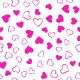 Pink hearts pattern Stock Images