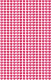 Pink hearts pattern Stock Photography