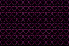 Pink hearts pattern Royalty Free Stock Photos