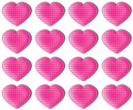 Pink hearts pattern Royalty Free Stock Image