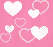 Pink hearts pattern Stock Photo