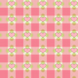 Pink hearts plaid Royalty Free Stock Photo