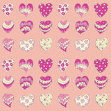 Pink hearts. Seamless background pattern Royalty Free Stock Image