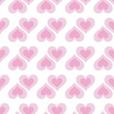 Pink hearts seamless bakground pattern Royalty Free Stock Photos
