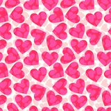 Pink hearts Stock Photos