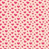 Pink hearts seamless pattern Royalty Free Stock Image