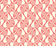 Pink hearts seamless pattern valentines background Royalty Free Stock Image