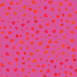 Pink Hearts Seamless Pattern Stock Photos