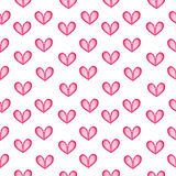 Pink hearts seamless pattern. Royalty Free Stock Photography