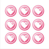 Pink hearts signs Royalty Free Stock Photo