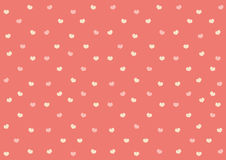 Pink hearts on sweet pink background | cute pattern wallpaper | valentine day celebrate Stock Images