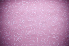 Pink Hearts Valentine Background Stock Photos