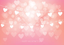 Pink Hearts Valentine`s Day Abstract Design Royalty Free Stock Image