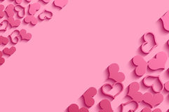 Pink Hearts. Stock Image