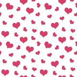 Pink hearts Valentine`s Day pattern seamless.  Royalty Free Stock Photos