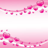 Pink hearts valentines Stock Images