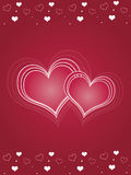 Pink Hearts Valentines Day Card Royalty Free Stock Images