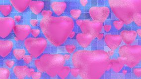 Pink hearts on white background. For valentine Royalty Free Stock Photos