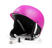 Pink helmet isolated on white Royalty Free Stock Images