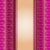 Pink henna pattern vertical banner Stock Image