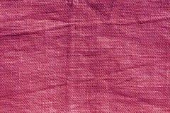 Pink hessian sack cloth texture. Stock Photography