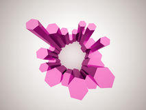Pink hexagonal background Stock Photos