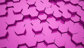 Pink hexagonal background tubes Royalty Free Stock Photography