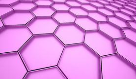 Pink hexagonal mesh background Royalty Free Stock Photo