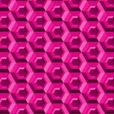 Pink hexagons with 3d effect in a seamless modern pattern. Pink hexagons with 3d effect in a repeating pattern for creative surface designs and backgrounds Stock Illustration