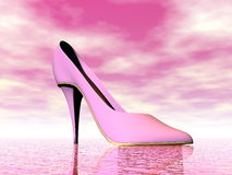 Pink high heel - 3D render Stock Image