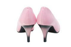 Pink high heel shoes. Stock Image