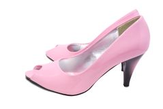Pink high heel shoes. Royalty Free Stock Photography