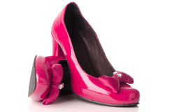 Pink high heel shoes Stock Photography