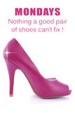 Pink High Heel Stiletto with Funny Saying Royalty Free Stock Photo