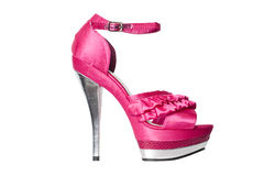 Pink high heeled sandals Royalty Free Stock Photo