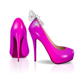 Pink high-heeled shoes Royalty Free Stock Photos