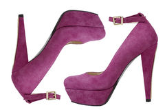 Pink high heeled shoes Royalty Free Stock Images