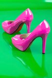 Pink high heels. Royalty Free Stock Photography