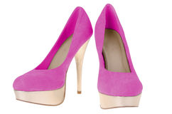 Pink high heels Royalty Free Stock Photo