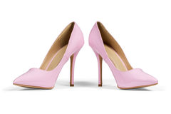 Pink high hell shoes Royalty Free Stock Photos