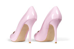 Pink high hell shoes Stock Photography