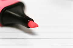 Pink highlight on white pad Royalty Free Stock Images