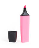 Pink highlighter isolated Royalty Free Stock Images