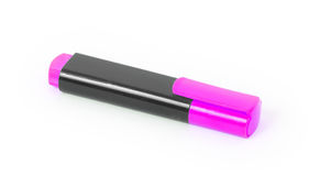 Pink highlighter isolated Royalty Free Stock Image