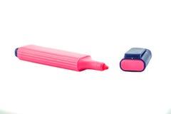 Pink highlighter. Stock Photos